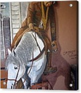Lee Marvin Cat Ballou Homage 1965 Mural  Kid Chillean's Black Canyon Arizona  2005 Acrylic Print