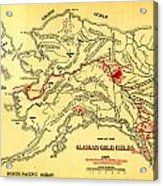 Lees Map Of The Alaskan Gold Fields 1897 Acrylic Print