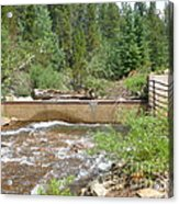 Left Hand Ditch Water Wars Acrylic Print