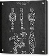 Lego Toy Figure Patent - Dark Acrylic Print