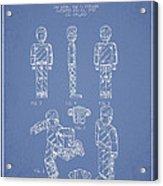 Lego Toy Figure Patent - Light Blue Acrylic Print