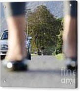 Legs And Car Acrylic Print