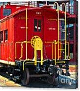 Lehigh New England Railroad Caboose 583 Acrylic Print