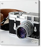 Leica M3 With Leather Strap Acrylic Print