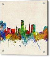 Leicester England Skyline Acrylic Print