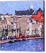 Leiden Canal Acrylic Print