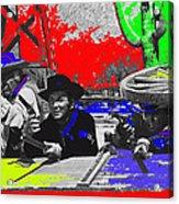 Leif Erickson Cameron Mitchell  Mark Slade Number 2 The High Chaparral Set Old Tucson Az 1969-2008 Acrylic Print