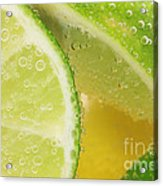 Lemon And Lime Slices In Water Acrylic Print
