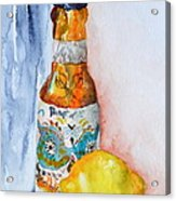 Lemon And Pilsner Acrylic Print by Beverley Harper Tinsley