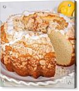 Lemon Bundtcake With Wedge Cut Out Acrylic Print