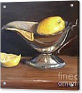 Lemon In Saucer Acrylic Print