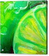 Lemon Lime Acrylic Print by Debi Starr