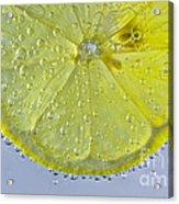 Lemon Slice In Bubbles Acrylic Print