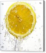 Lemon Splash Acrylic Print