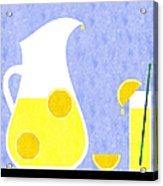 Lemonade And Glass Blue Acrylic Print