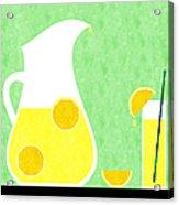 Lemonade And Glass Green Acrylic Print