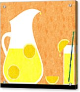Lemonade And Glass Orange Acrylic Print