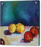 Lemons And Apples Acrylic Print