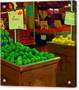 Lemons And Limes Farmers Market Food Stalls Market Vendors Vegetable Food Art Carole Spandau Acrylic Print