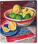 Lemons And Limes Acrylic Print by Joy Nichols