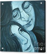Lennon And Ono Acrylic Print