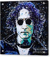 Lennon Acrylic Print by Chris Mackie