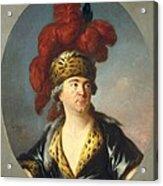 Lenoir, Simon Bernard 1729-1791. Lekain Acrylic Print