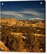 Lenticular Clouds Near Tesuque Pueblo Nm Acrylic Print