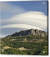Lenticular Clouds Over Dornajo Mountain Acrylic Print