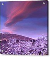 Lenticular Clouds Over Sierra Nevada Acrylic Print