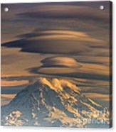 Lenticular Rainier Acrylic Print by Chris Anderson