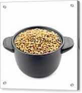 Lentils In A Black Cup Acrylic Print