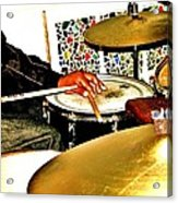 Leo Drumming Acrylic Print