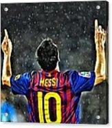 Leo Messi Poster Art Acrylic Print