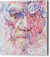 Leo Tolstoy/ Colored Pens Portrait Acrylic Print