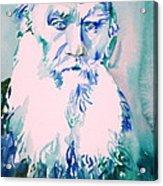 Leo Tolstoy Watercolor Portrait.2 Acrylic Print