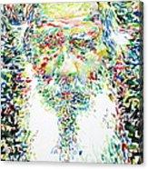 Leo Tolstoy Watercolor Portrait.1 Acrylic Print