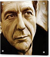 Leonard Cohen Artwork Acrylic Print