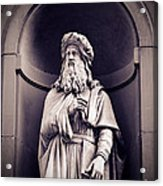 Leonardo Da Vinci Acrylic Print