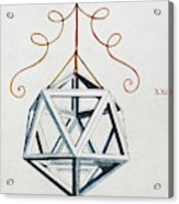Leonardo Icosahedron Acrylic Print