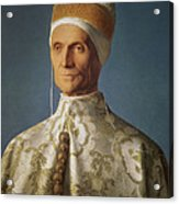 Leonardo Loredan 1436-1521 Doge Of Venice From 1501-21, C.1501 Oil On Panel Acrylic Print