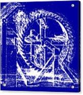 Leonardo Machine Blueprint Acrylic Print