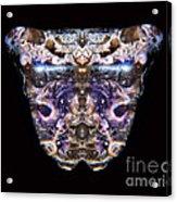 Leopard Heart Bowl Acrylic Print