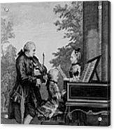 Leopold Mozart And His Two Children Acrylic Print