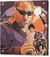 Leroi Moore Purple And Orange Acrylic Print