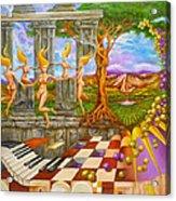Les Amours Hallucines De La Vigne Et Du Pin Parasol Acrylic Print