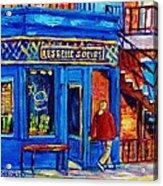Les Belles Soeurs  Montreal Restaurant Plateau Mont Royal Painting By Carole Spandau Acrylic Print