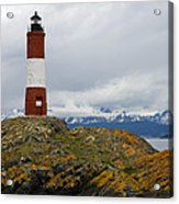 Les Eclaireurs Lighthouse Southern Patagonia Acrylic Print
