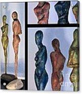 Les Filles De L'asse 1 Triptic Collage Acrylic Print