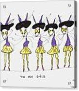 Les Girls Acrylic Print